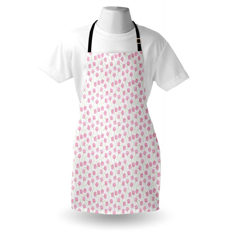 Bahar Mutfak Önlüğü Beyaz Arka Planda Romantik Çiçek Dalı Motifi