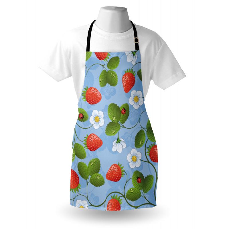 Bahar Mutfak Önlüğü Çilek Desenli