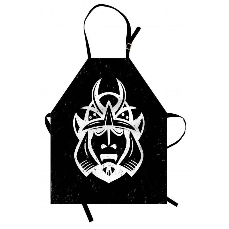 Asya Temalı Mutfak Önlüğü Samuray Konsepti