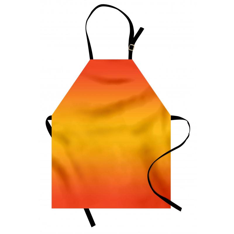 Mutfak Önlüğü Sarı Turuncu Desenli