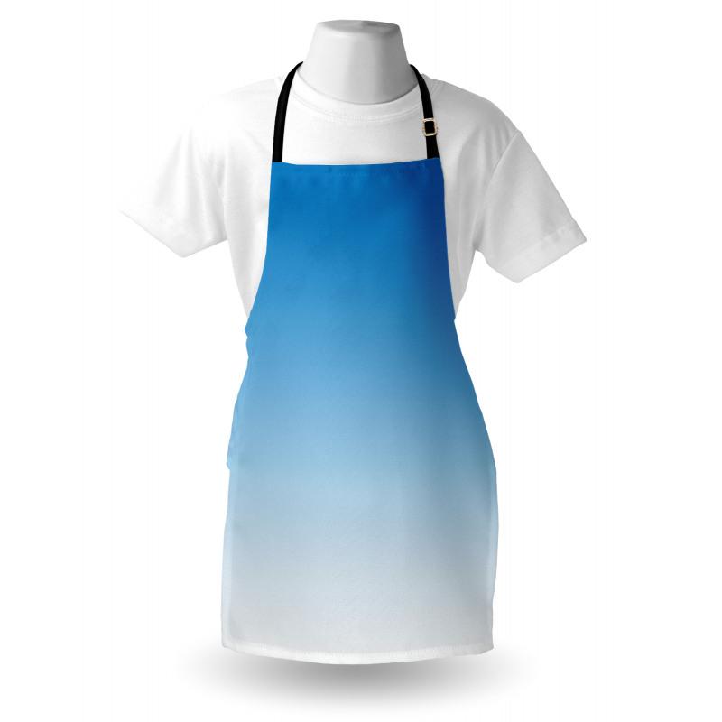 Mutfak Önlüğü Açık Mavi Desenli