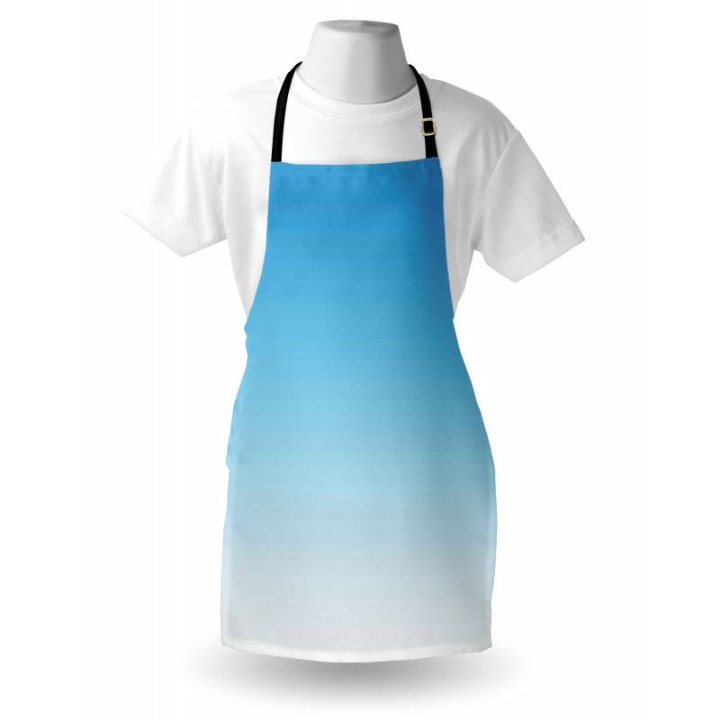Mutfak Önlüğü Mavi ve Beyaz Desenli