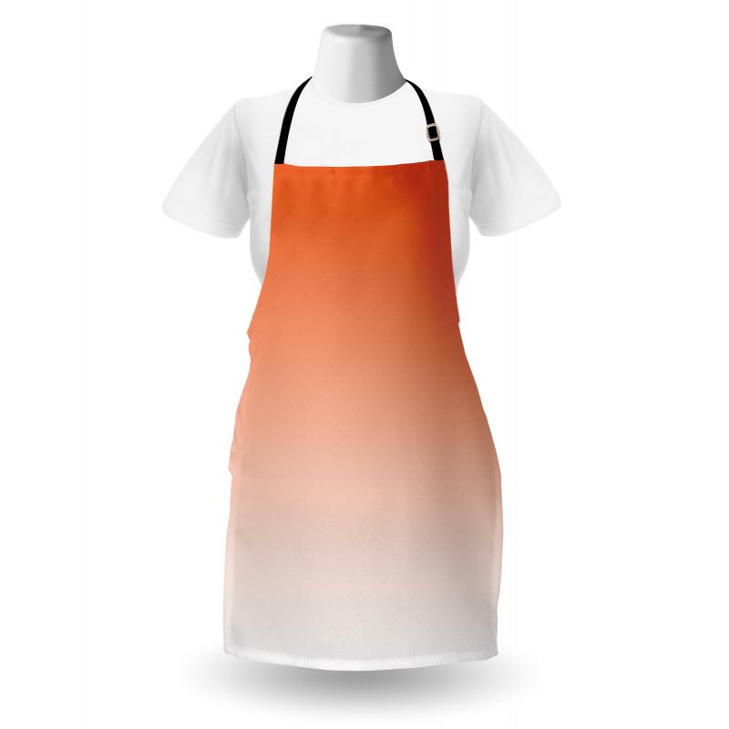 Mutfak Önlüğü Turuncu Beyaz Desenli