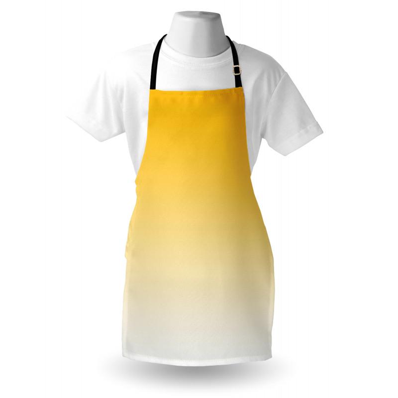 Mutfak Önlüğü Sarı Beyaz Desenli