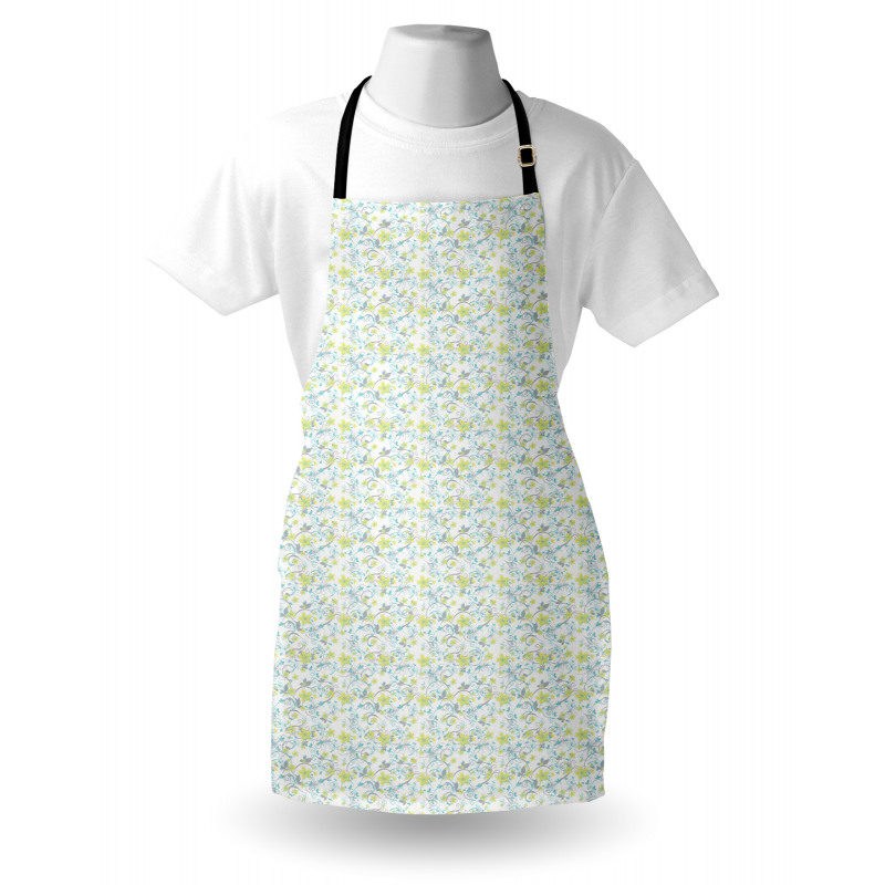 Mutfak Önlüğü Sarı Minik Çiçekli