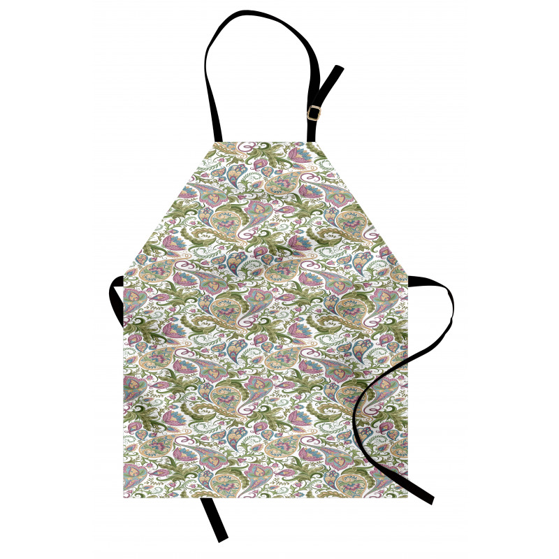 Mutfak Önlüğü Nostaljik Çiçek Motifli