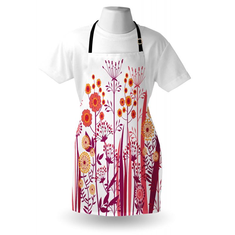 Bahar Mutfak Önlüğü Şık Çiçek ve Yaprak