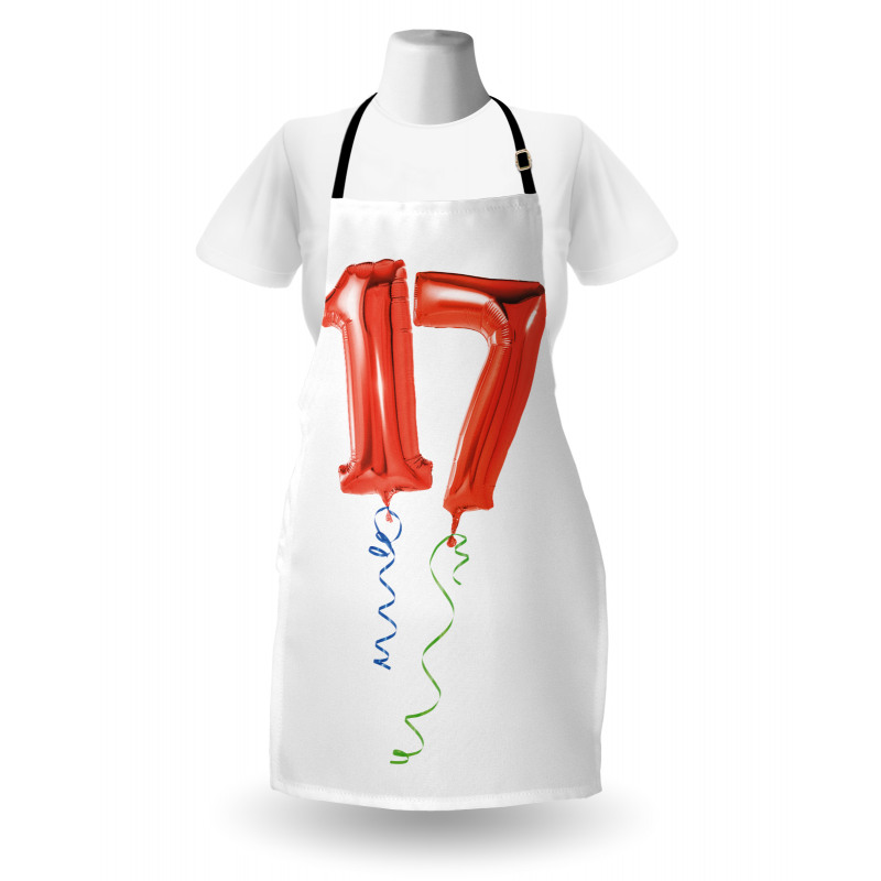 17 Party Red Balloons Apron