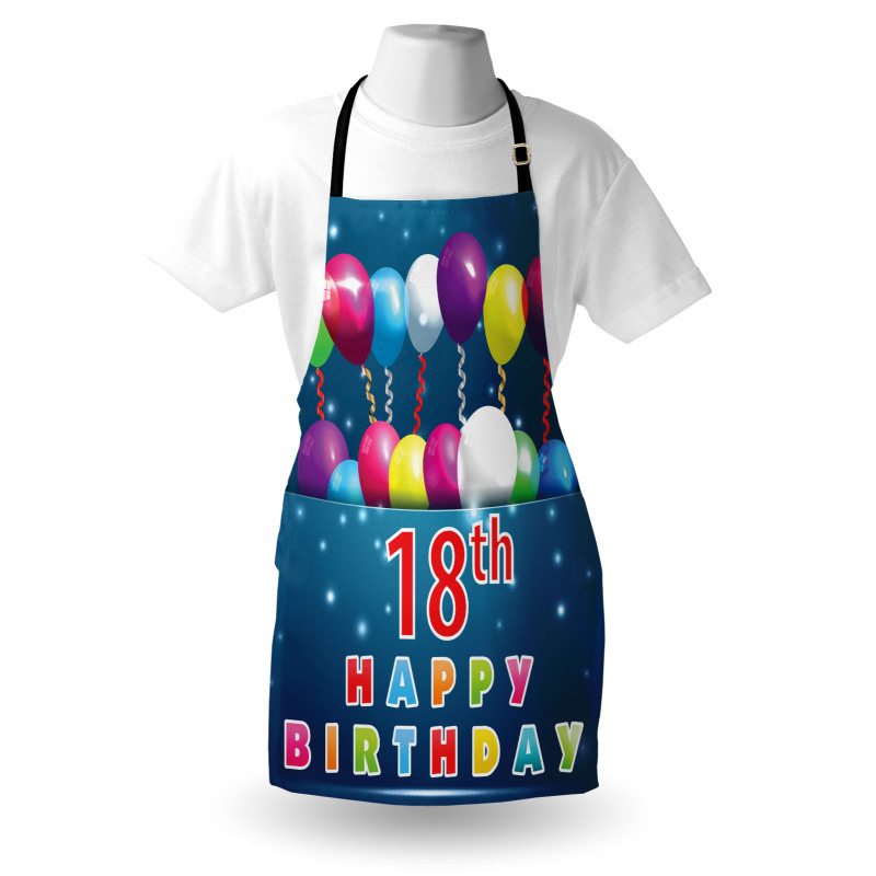 18 Birthday Balloons Apron