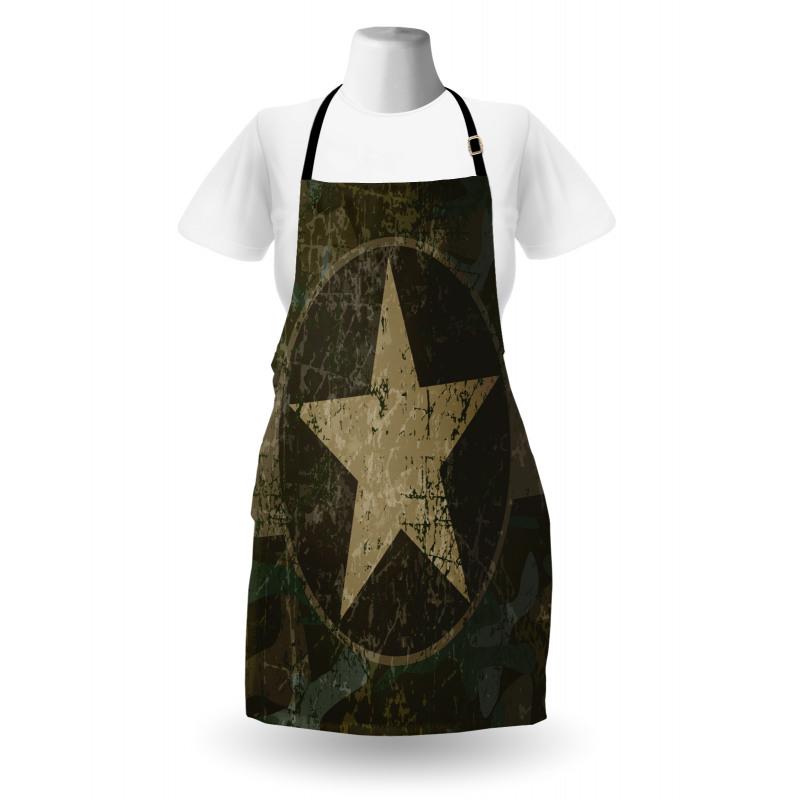 Mutfak Önlüğü Bej Yıldız Desenli