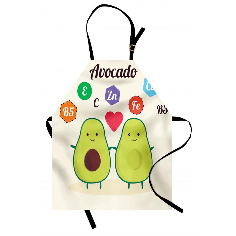 Avokado Mutfak Önlüğü Çocuksu Sağlıklı Meyvelerin Mineralleri