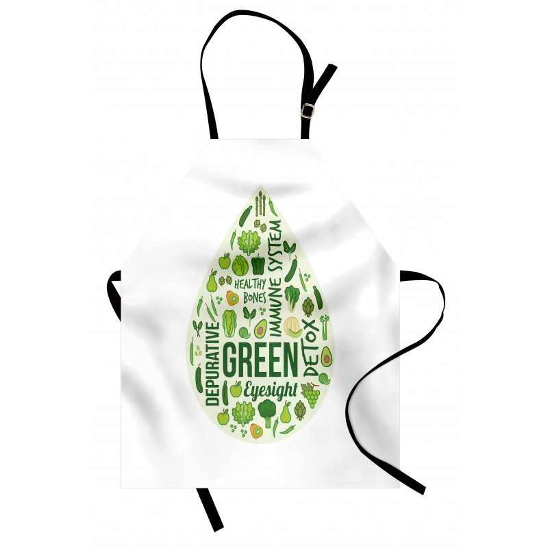 Avokado Mutfak Önlüğü Sağlıklı Meyve Şeklinde Sağlıklı Yazılı