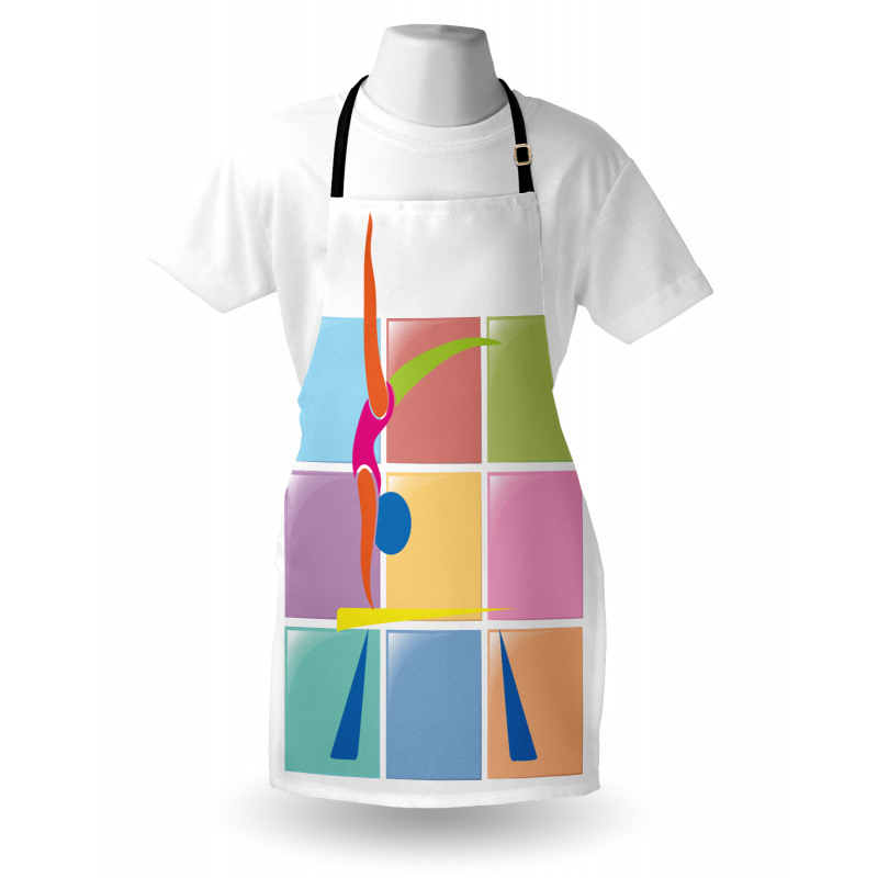 Abstract Athlete Apron