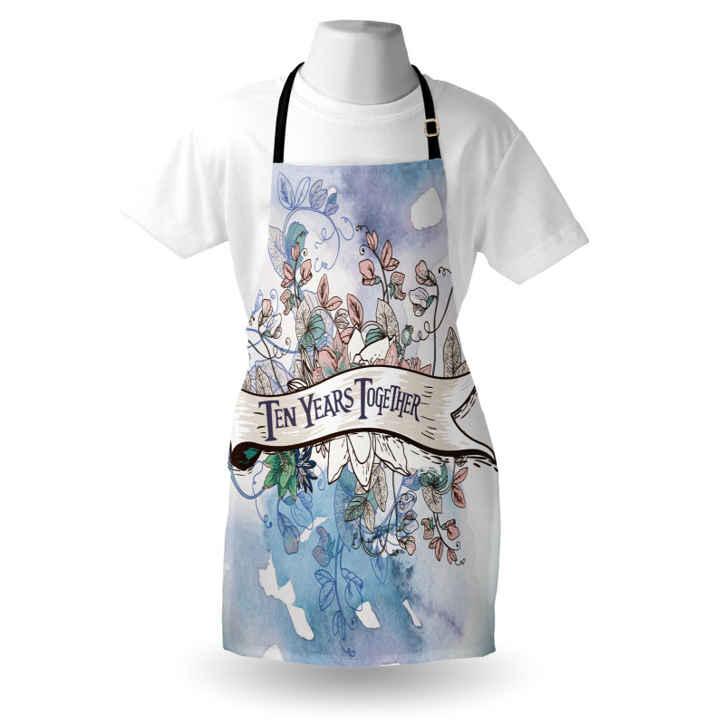 10 Years Floral Art Apron