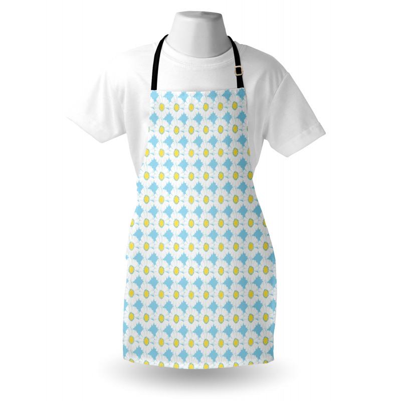 Bahar Mutfak Önlüğü Romantik ve Güzel Simetrik Papatya Desenleri