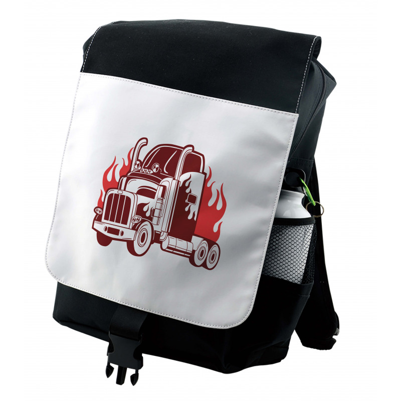 18 Wheeler Silhouette Backpack