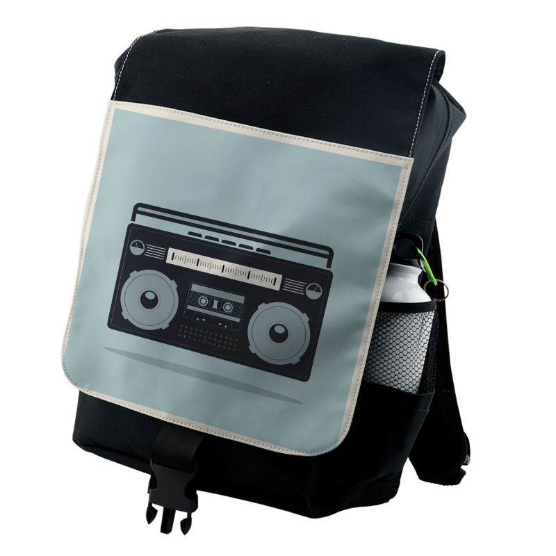 1980s Boombox Image Backpack