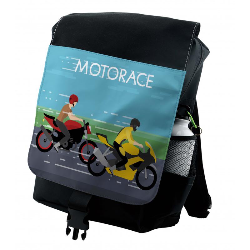 2 Bikers Racing Backpack
