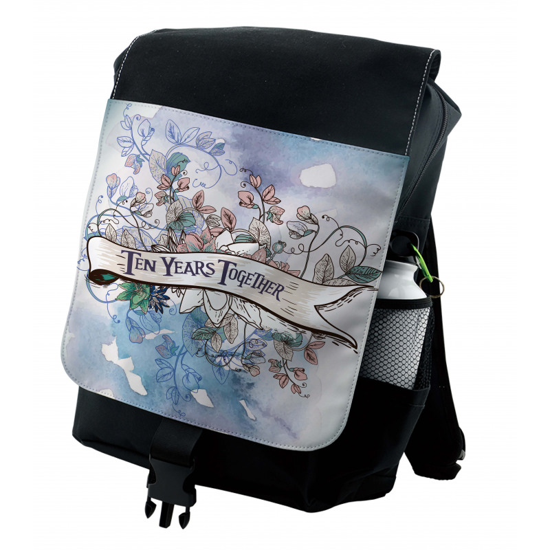 10 Years Floral Art Backpack