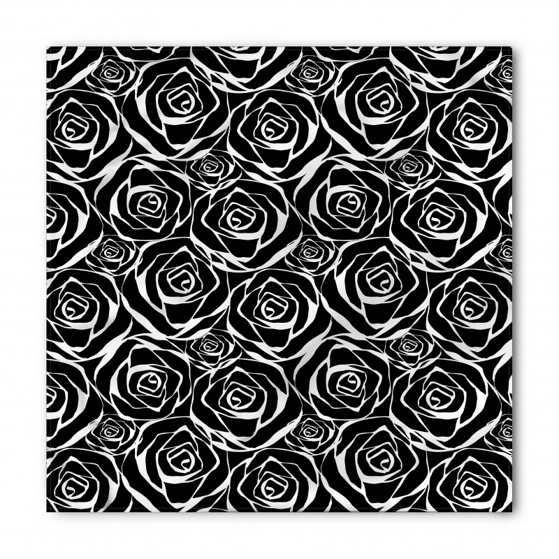 Abstract Art Rose Flowers Bandana
