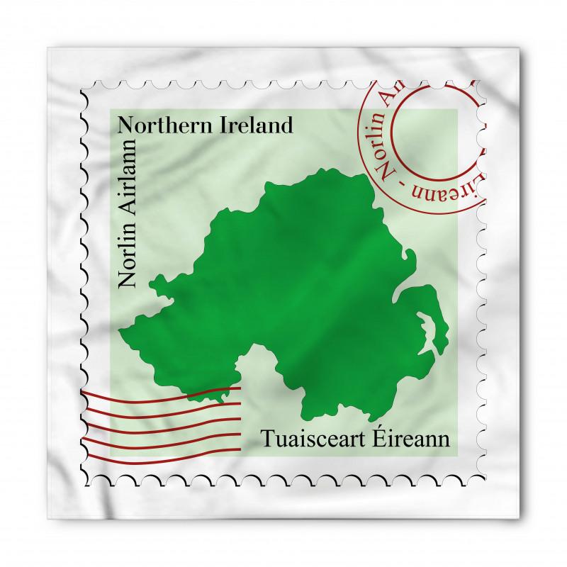 Avrupa Bandana Kuzey İrlanda Haritası ile Posta Pulu Deseni