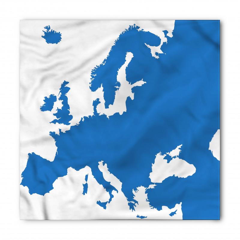 Avrupa Bandana Dünya Haritasından Bir Parçanın Soyut Çizimi