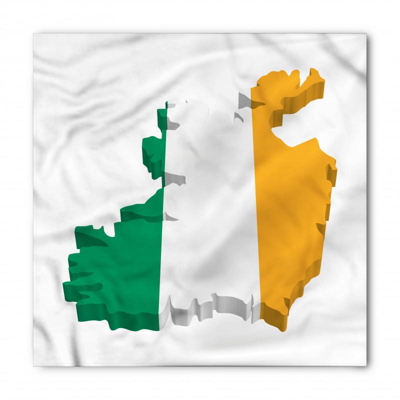 Avrupa Bandana İrlanda Haritasına Çizilmiş Bayrak ile İkon