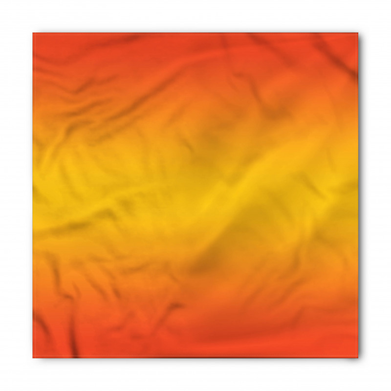 Bandana Sarı Turuncu Desenli