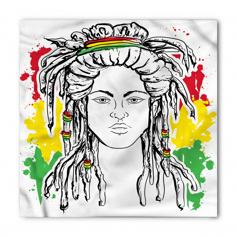 Afrika Bandana Hippi Kadın Desenli