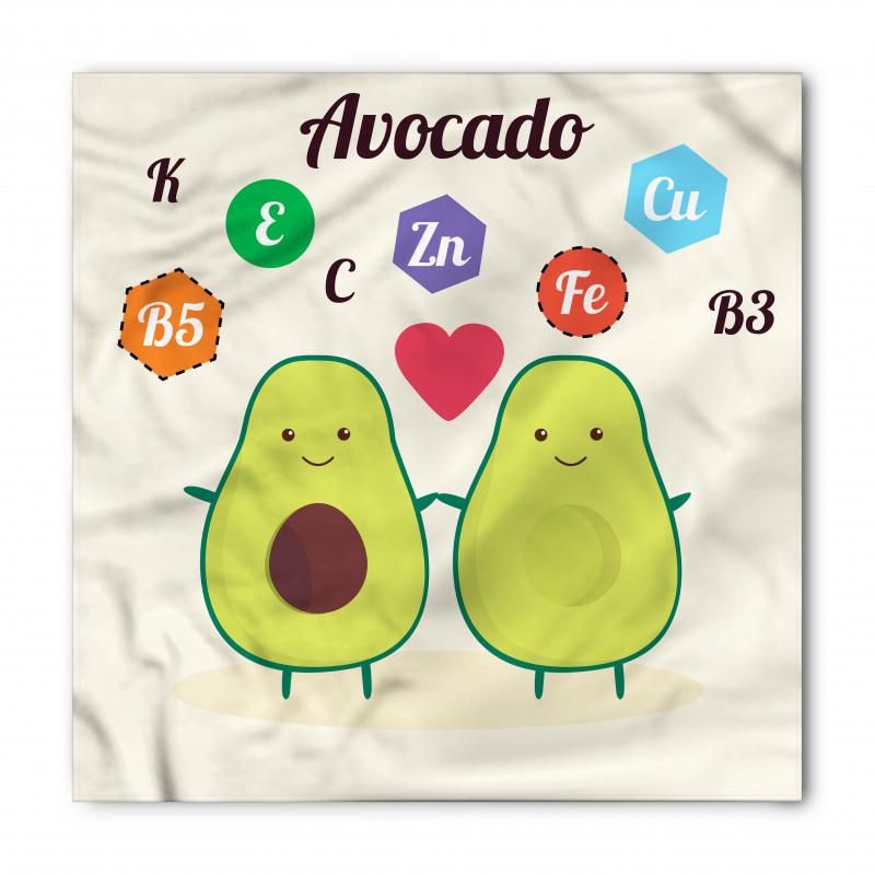 Avokado Bandana Çocuksu Sağlıklı Meyvelerin Mineralleri