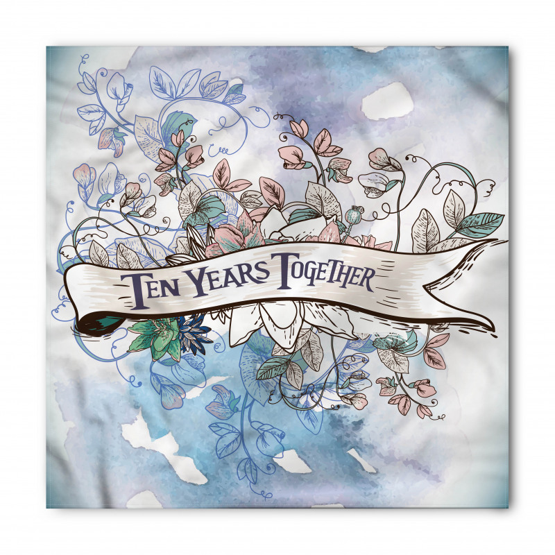 10 Years Floral Art Bandana