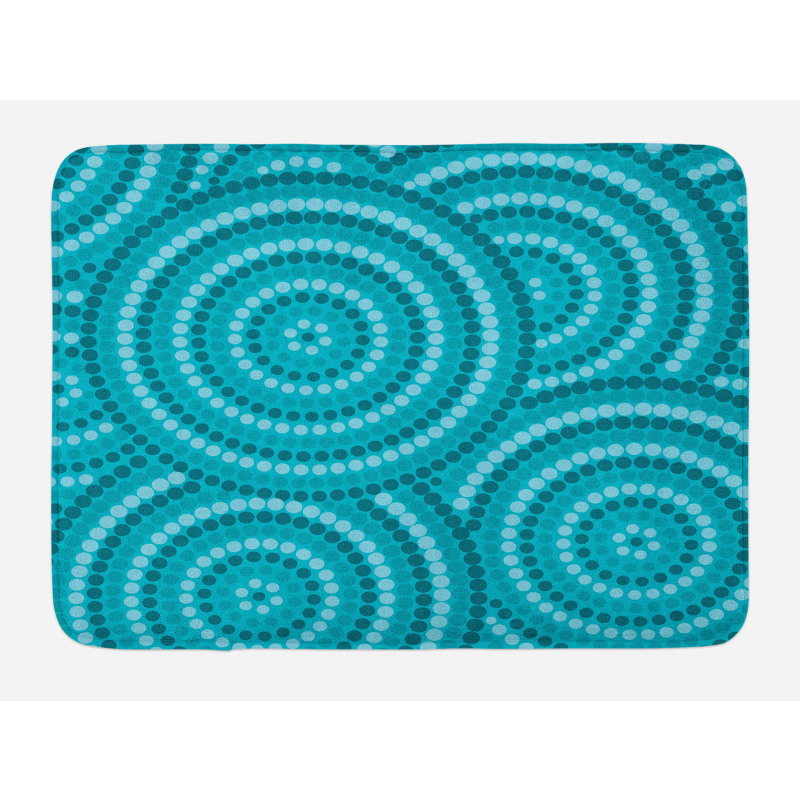 Abstract Australian Dots Bath Mat