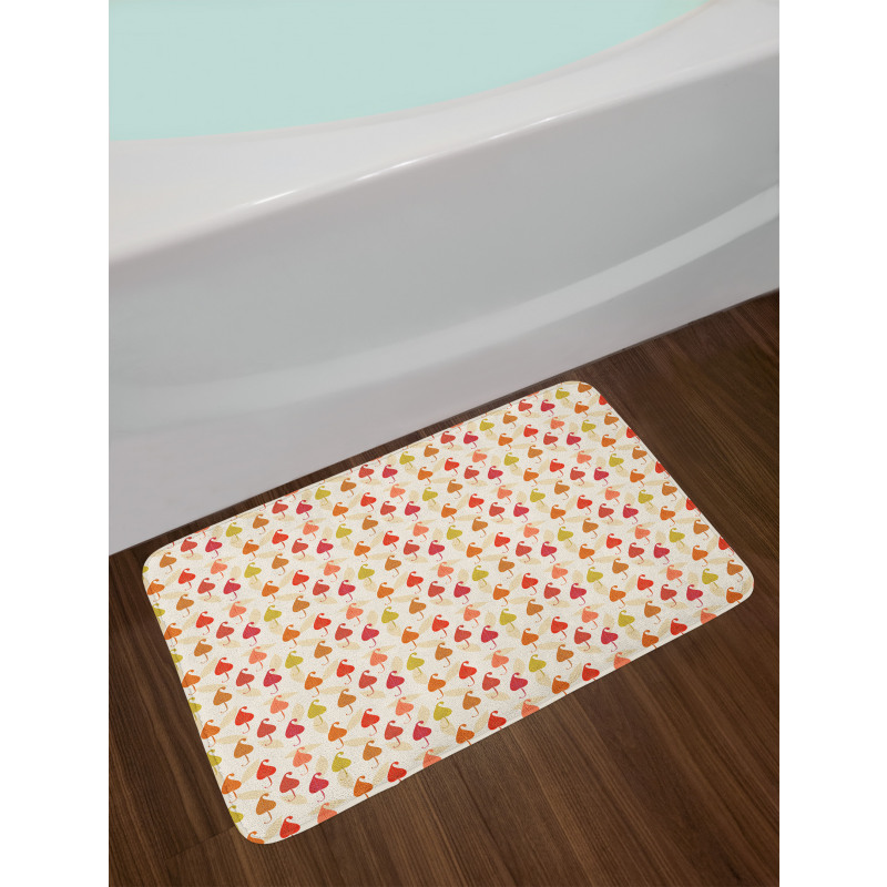 Abstract Autumn Leaf Art Bath Mat