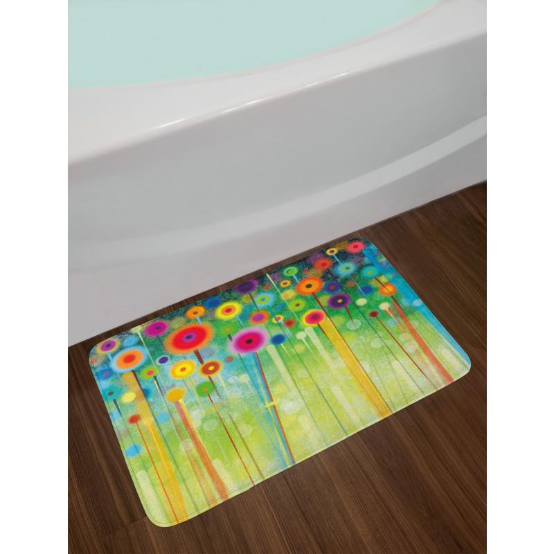 Abstract Art Dandelion Bath Mat