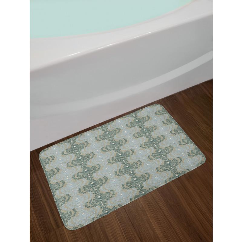 Abstract Art Floral Bath Mat