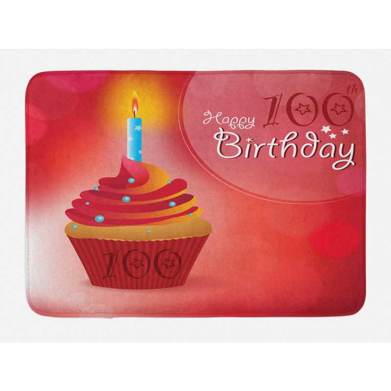 100 Old Cupcake Bath Mat