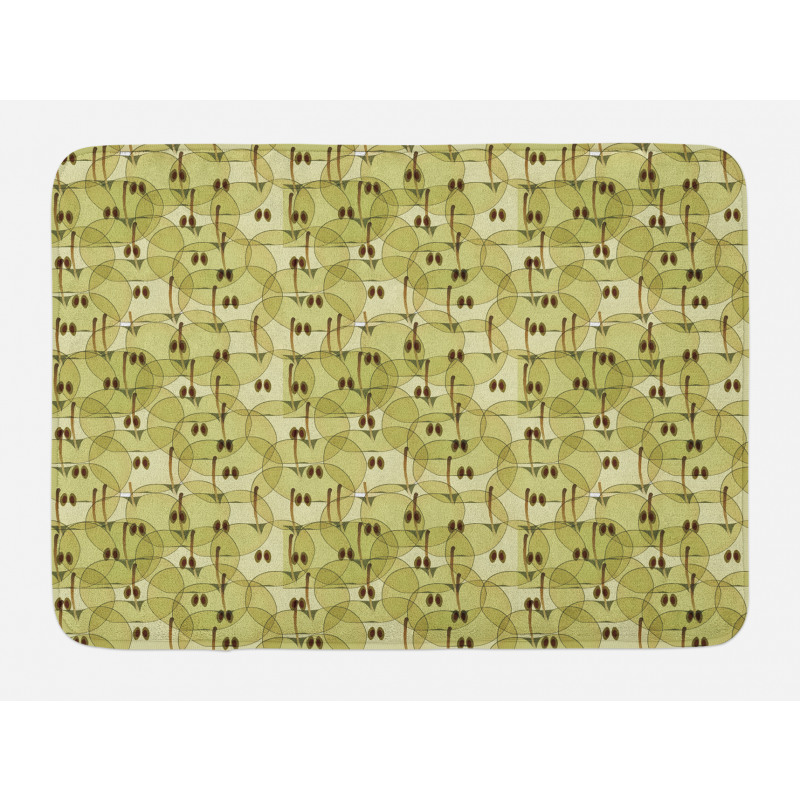 Abstract Autumn Garden Bath Mat