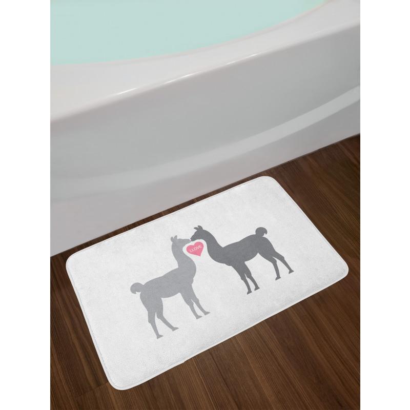 2 Animals in Love Bath Mat