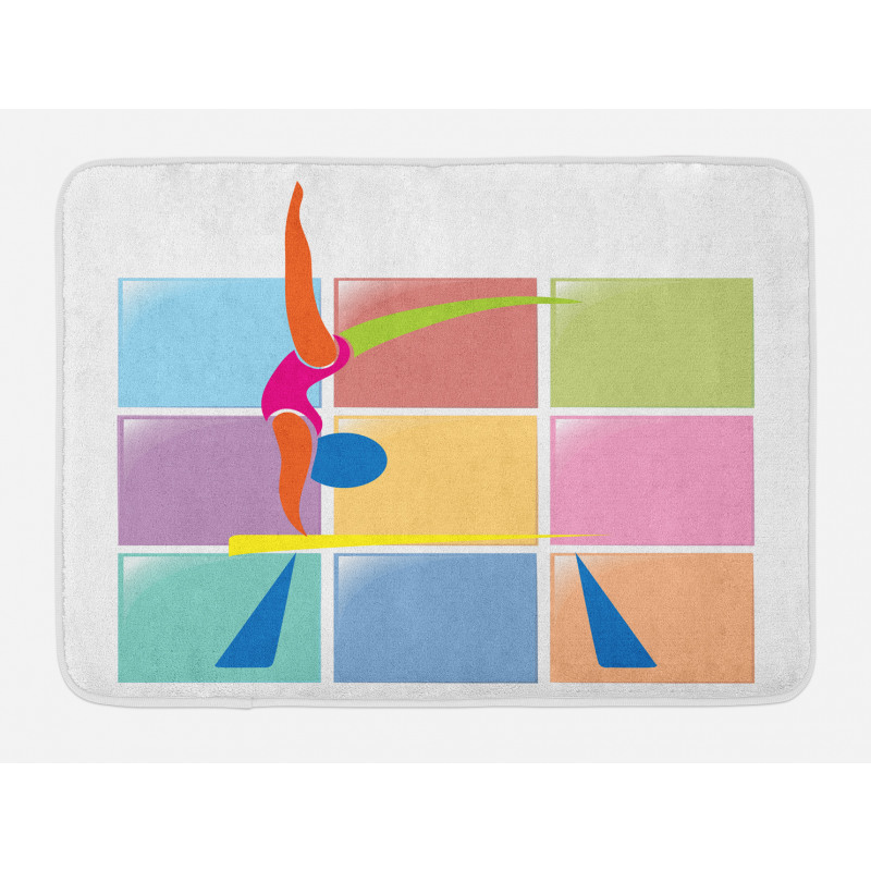 Abstract Athlete Bath Mat