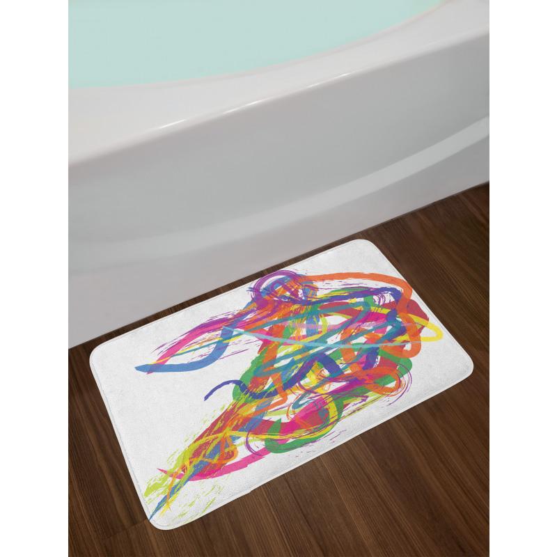 Abstract Art Dancer Bath Mat