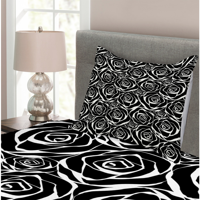 Abstract Art Rose Flowers Bedspread Set