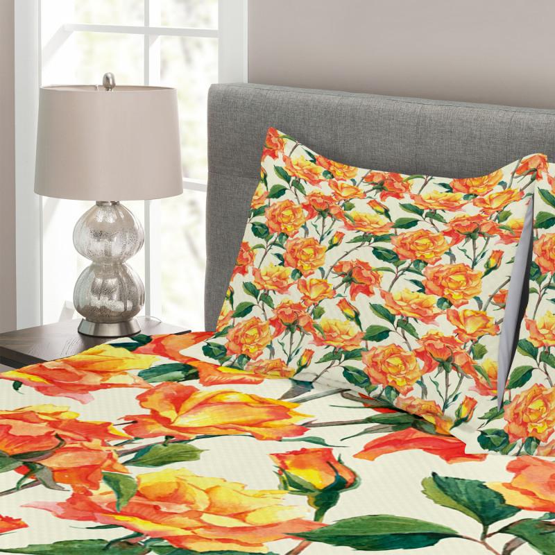 Old Bridal Vivid Bouquet Bedspread Set