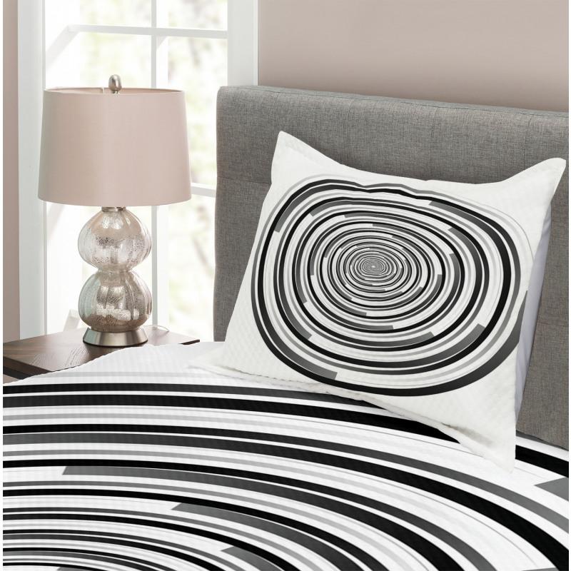 Abstract Art Spirals Bedspread Set