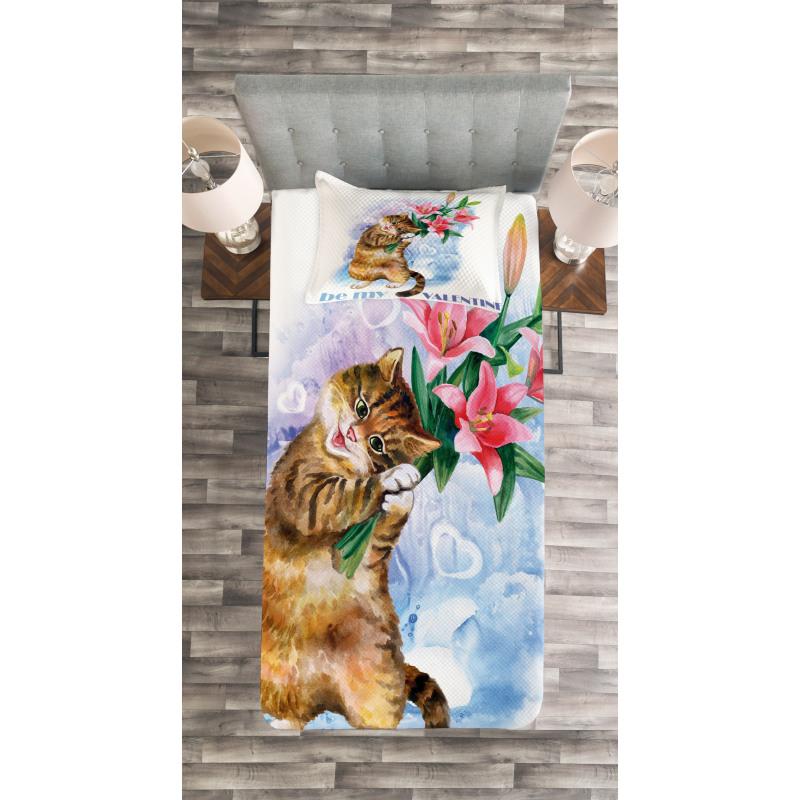 Baby Kitten Bedspread Set