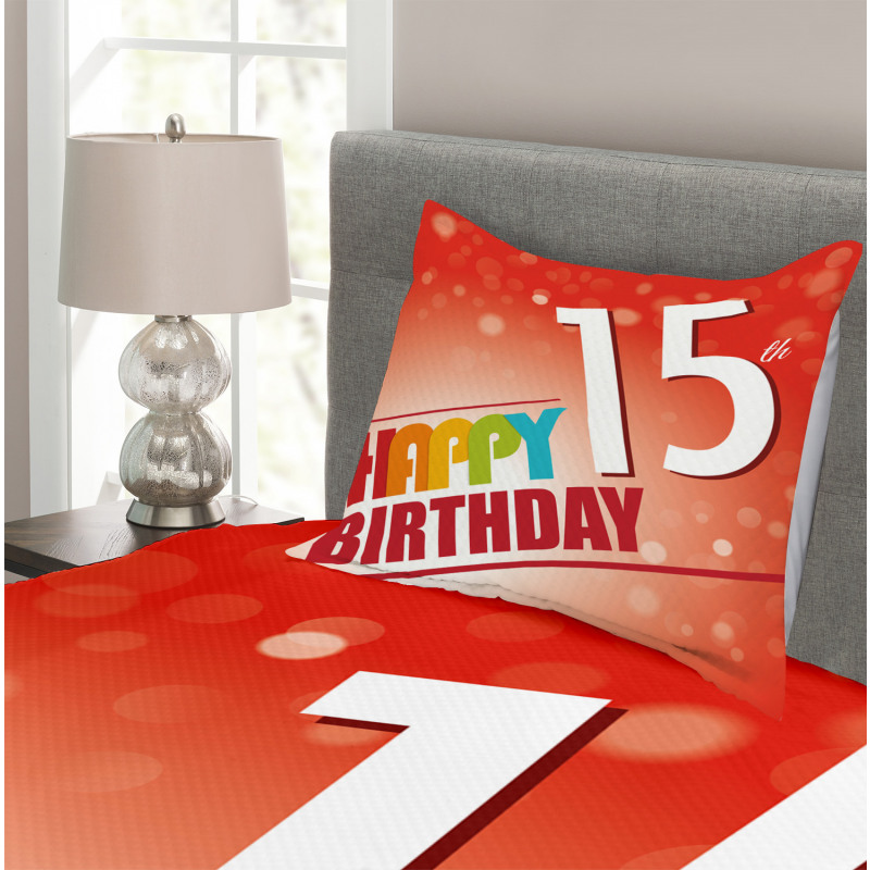 15th Birthday Concept Bedspread Set