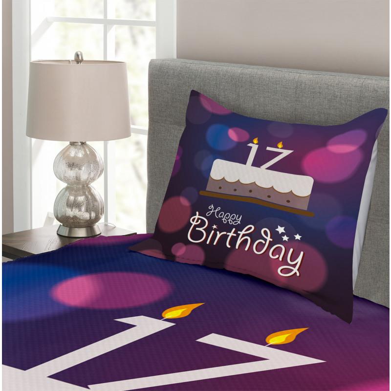17 Party Cake Bedspread Set