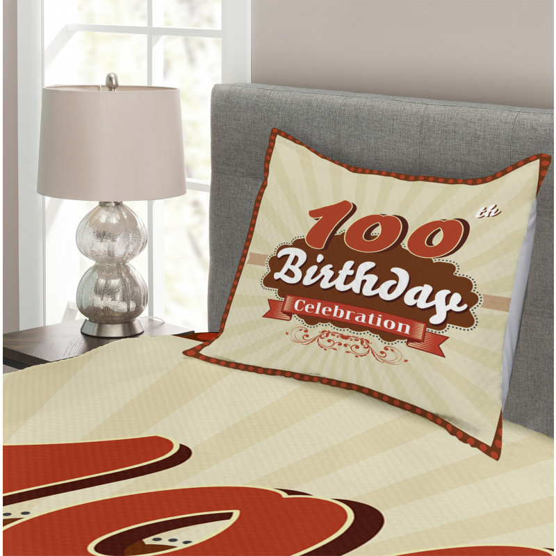 100 Old Party Invite Bedspread Set