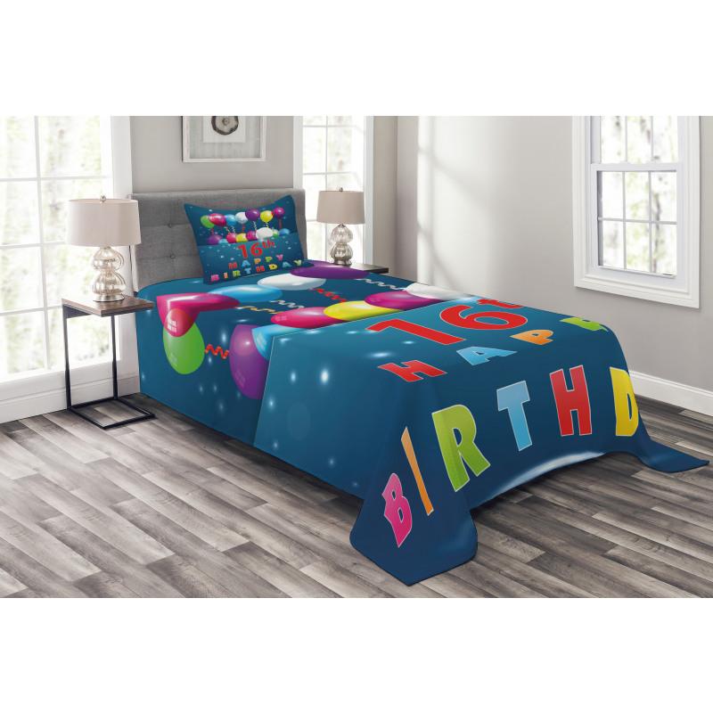 16 Party Bedspread Set