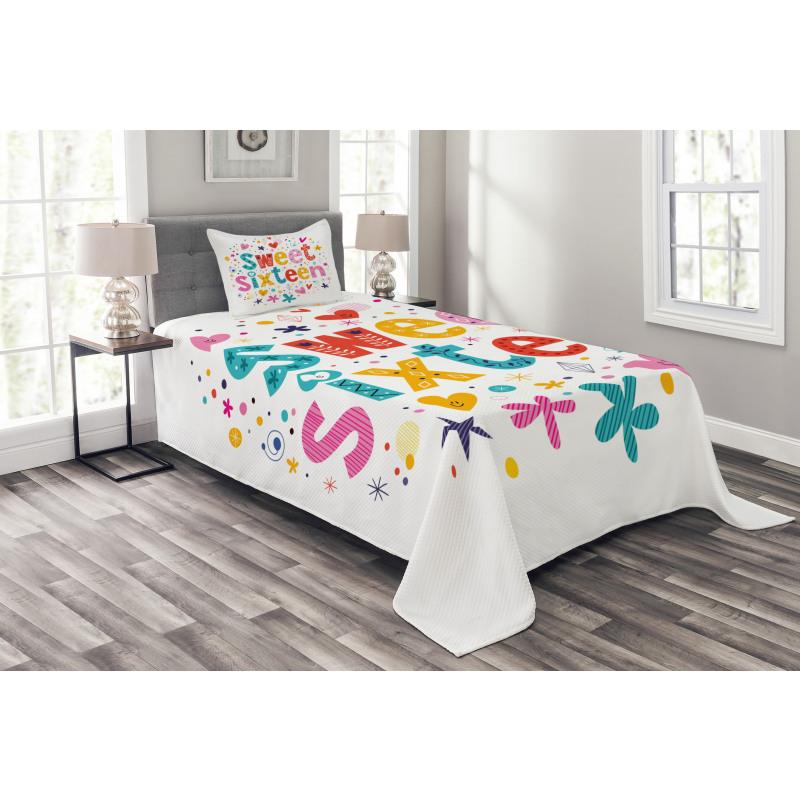16 Blossoms Bedspread Set
