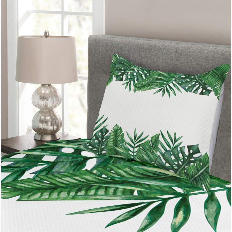 Forest Leaves Frame Bedspread Set